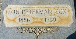 Lou <i>Peterman</i> Cox
