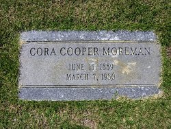 Cora Ophelia <i>Cooper</i> Moreman