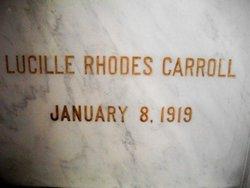 Lucille <i>Rhodes</i> Carroll