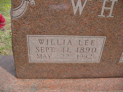 Willia Lee Willie <i>Sherfield</i> White