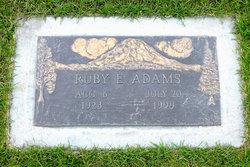 Ruby E. <i>Edinger</i> Adams