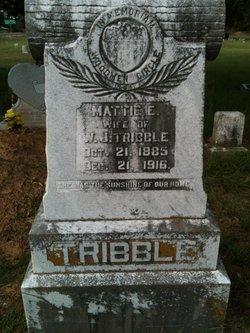 Mattie Elizabeth <i>Ansley</i> Tribble