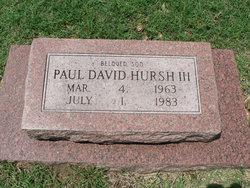 Paul David Hursh, III