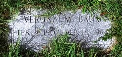Verona Marie Ronnie <i>Jackson</i> Baum
