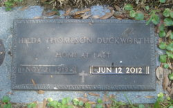 Hilda <i>Thompson</i> Duckworth