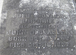 Susie Loyall <i>Humphries</i> Allen