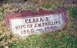 Clara J <i>Saxton</i> Phillips
