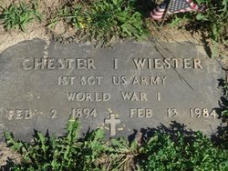 1Sgt Chester I. Wiester