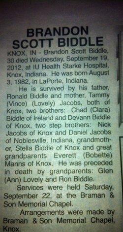 Brandon Scott Biddle