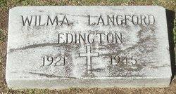 Wilma <i>Langford</i> Edington