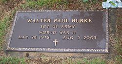 Sgt Walter Paul Burke