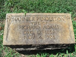 Nannie F. <i>Pendleton</i> Adams