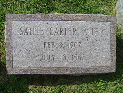 Sarah Sallie <i>Carter</i> Allen