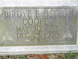 Birdye E <i>Heflin</i> Cooper