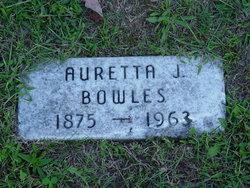 Auretta Josephine <i>Knapp</i> Bowles