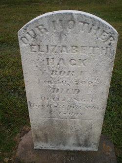 Elizabeth <i>Wentz</i> Hack
