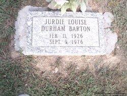 Jurdie Louise <i>Durham</i> Barton