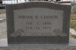 Miriam B Cannon