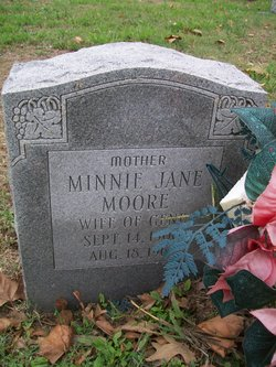 Minnie Jane <i>Cole</i> Moore