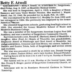 Betty E <i>Fleisher</i> Atwell