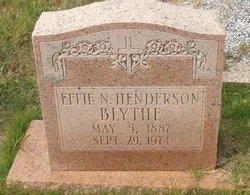 Effie Nehidah Henderson <i>Holbert</i> Blythe