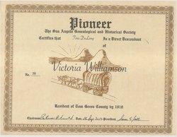 Victoria M. Vicky <i>Williamson</i> Bowen