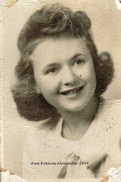 Ann Frances <i>Alexander</i> Fritchlee
