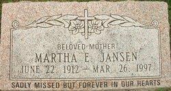 Martha E Jansen