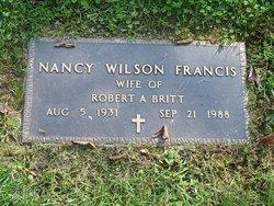 Nancy Wilson <i>Francis</i> Britt