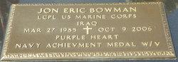 LCpl Jon Eric Bowman