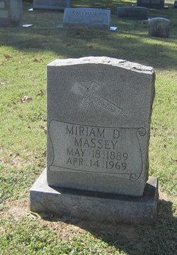 Miriam D Massey