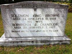 Sophronia J <i>Chandler</i> Brown