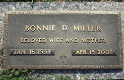 Bonnie D Miller