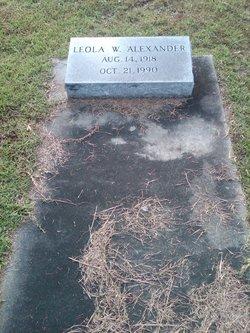 Leola <i>White</i> Alexander