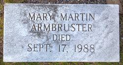 Mary <i>Martin</i> Armbruster