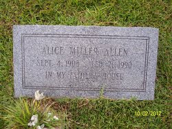 Alice <i>Miller</i> Allen