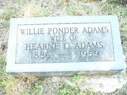 Willie <i>Ponder</i> Adams