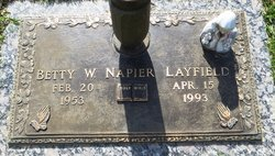 Betty <i>Walden</i> Napier layfield