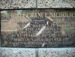 Victoria <i>Chance</i> Nicholson