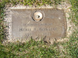 Merle E Bowlsby