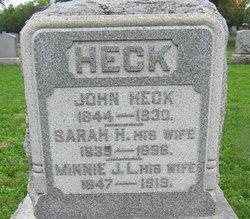 Sarah H Sallie <i>Rogers</i> Heck