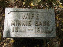 Minnie <i>Berner</i> Bade