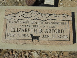 Elizabeth <i>Barrows</i> Arford