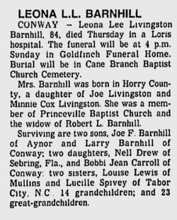 Leona <i>Livingston</i> Barnhill