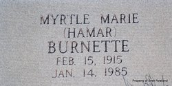 Myrtle Marie <i>Hamar</i> Burnett