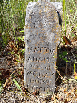 Martha Mattie <i>Adams</i> Ray