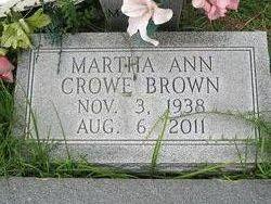 Martha Ann <i>Crowe</i> Brown