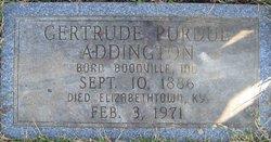 Elma Gertrude <i>Purdue</i> Addington