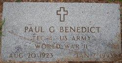 Paul G Benedict