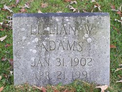 Lillian W Adams